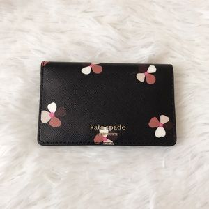 NWT Kate Spade Small Bifold Card Holder Black